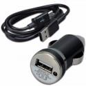 2 в 1 - Бързо зарядно за кола и дата кабел