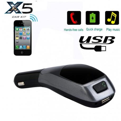 Bluetooth FM трансмитер за кола X5